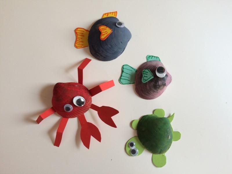 D a 3 animales marinos con conchas educadiver - Como hacer conchas finas ...