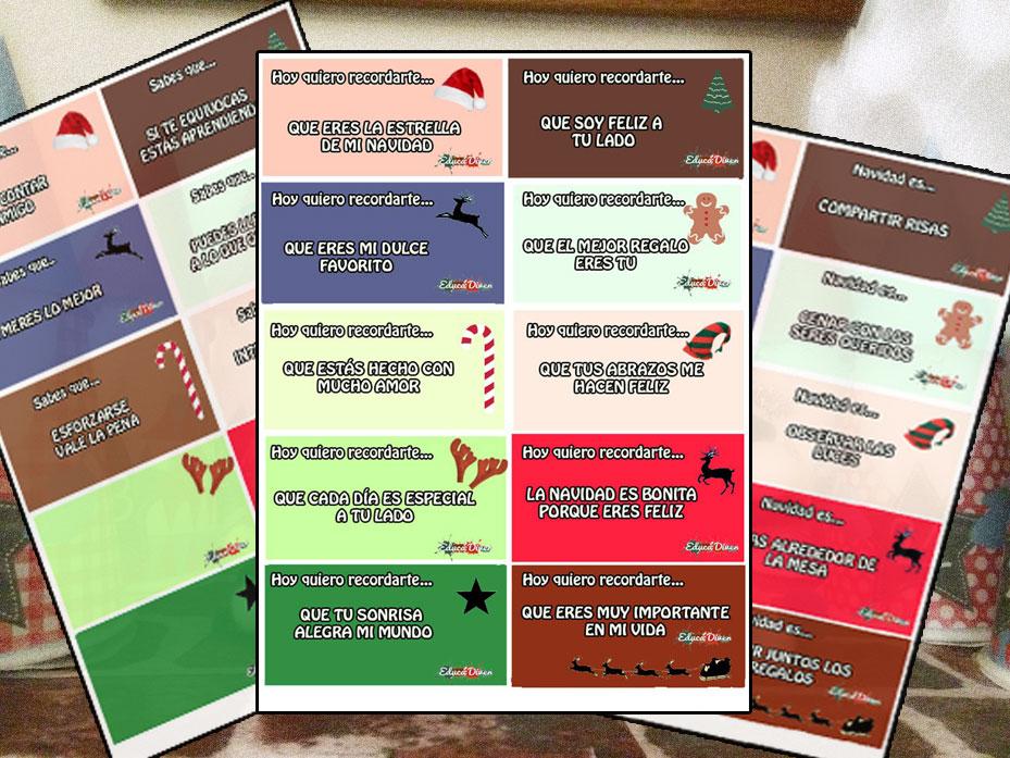 Frases Positivas Para El Calendario De Adviento Educadiver