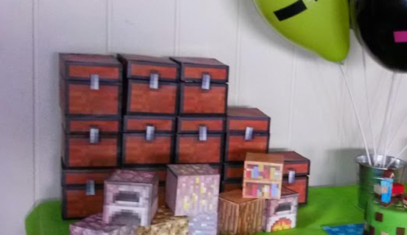 Cofre Minecraft Imprimible Educadiver